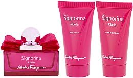 Düfte, Parfümerie und Kosmetik Duftset - Salvatore Ferragamo Signorina Ribelle (Eau de Parfum 50ml + Duschgel 50ml + Körperlotion 50ml)