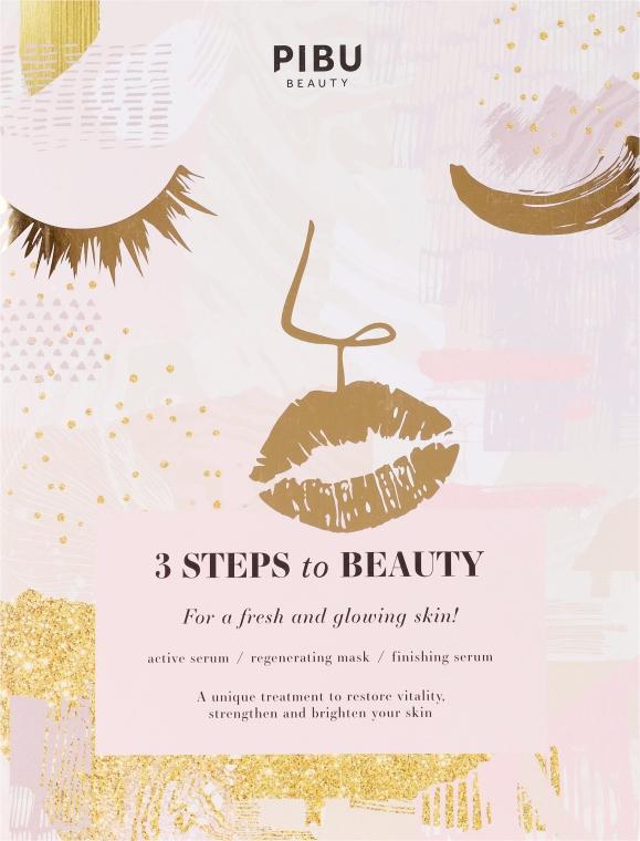 Regenerierende Gesichtsmaske - Pibu Beauty 3 Steps To Beauty Mask — Bild N1