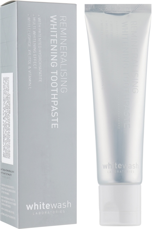 Aufhellende und remineralisierende Zahnpasta - WhiteWash Laboratories Remineralising Whitening Toothpaste