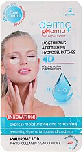 Düfte, Parfümerie und Kosmetik Erfrischende Gel Pads unter den Augen - Dermo Pharma 4D Moisturizing & Refreshing Gel Patches