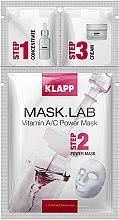 Düfte, Parfümerie und Kosmetik Tuchmaske für das Gesicht mit Vitamin A und C - Klapp Mask Lab Vitamin A/C Power Mask