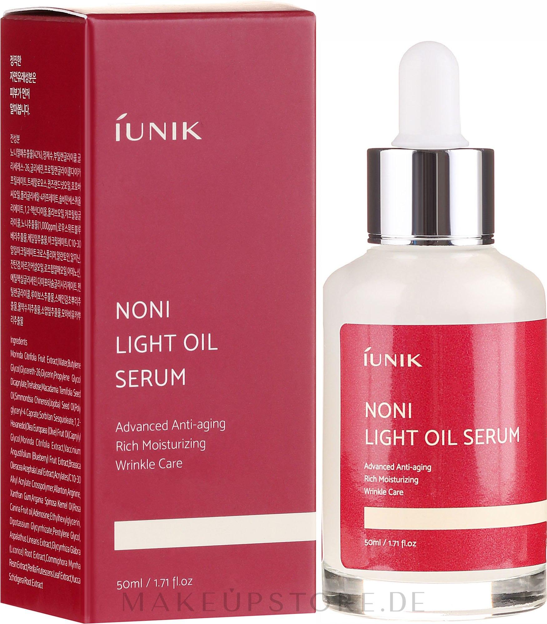 Mildes Ölserum für das Gesicht - iUNIK Noni Light Oil Serum — Bild 50 ml