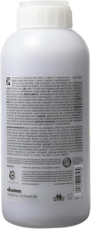 Shampoo für geschmeidige Locken und Wellen - Davines Shampoo Lisciante Addolcente — Bild N2