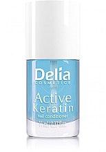 Düfte, Parfümerie und Kosmetik Nagelbalsam mit Keratin - Delia Cosmetics Active Keratin Nail Conditioner