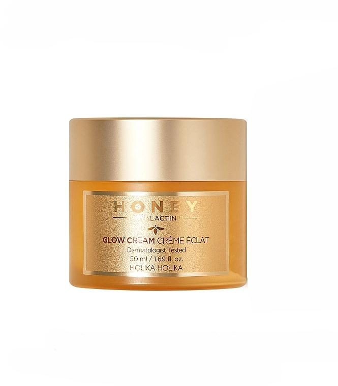 Gesichtscreme mit Gelée Royale-Extrakt - Holika Holika Honey Royal Lactin Glow Cream — Bild N1