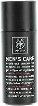 Düfte, Parfümerie und Kosmetik Feuchtigkeitsspendendes Gesichtscreme-Gel mit Zeder und Propolis - Apivita Men Men's Care Moisturizing Cream-Gel With Cedar & Propolis