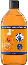 Düfte, Parfümerie und Kosmetik Antibakterielle Flüssigseife mit Orangenduft - Fa Hygiene & Fresh Orange Scent Liquid Soap (Nachfüller)