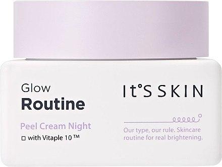 Aufhellende Nachtcreme für das Gesicht mit Peeling-Effekt - It's Skin Glow Routine Peel Cream Night — Bild N1