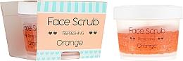Düfte, Parfümerie und Kosmetik Erfrischendes Gesichtspeeling Orange mit Jojoba- und Mandelöl - Nacomi Refreshing Face Orange