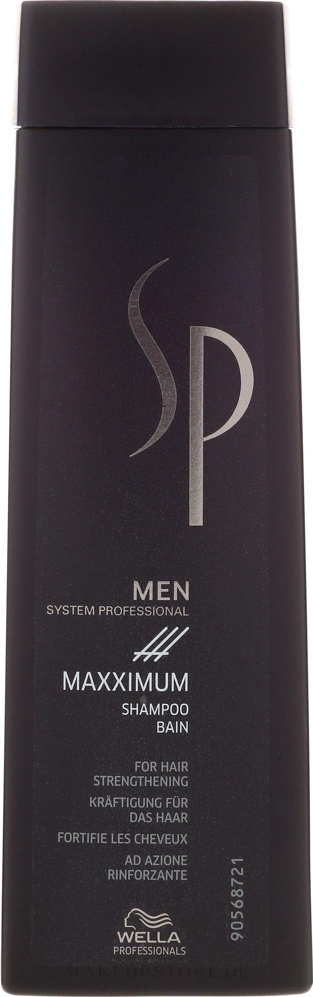Kräftigendes und stimulierendes Shampoo für Männer - Wella SP Men Maxximum Shampoo — Bild 250 ml