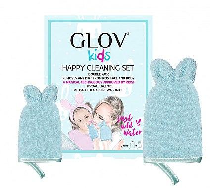 Handschuh-Set zur Gesichtsreinigung - Glov Kids Happy Cleaning Set Blue (Handschuh groß 1 St. + Handschuh klein 1 St.) — Bild N1