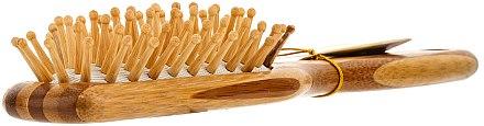 Bambus Massagebürste für Haar klein - Olivia Garden Healthy Hair Small Rect Ionic Massage Brush — Bild N2