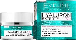 Düfte, Parfümerie und Kosmetik Anti-Falten Cremekonzentrat für die Tages- und Nachtpflege 70+ - Eveline Cosmetics Bio Hyaluron Expert Cream 70+