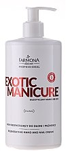 Düfte, Parfümerie und Kosmetik Regenerierende Hand- und Nagelcreme für trockene und raue Haut - Farmona Exotic Manicure SPA