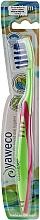 Düfte, Parfümerie und Kosmetik Zahnbürste mittel grün-rosa - Yaweco Toothbrush Nylon Medium