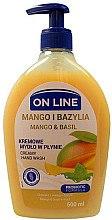 Düfte, Parfümerie und Kosmetik Flüssigseife mit Mango und Basilikum - On Line Mango & Basil Creamy Hand Wash