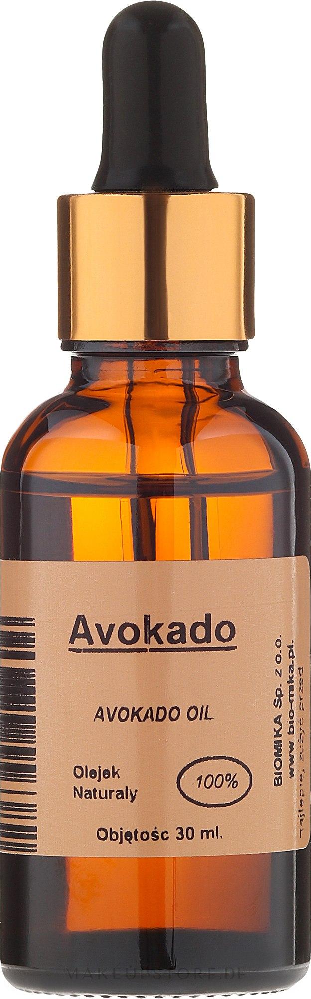 100% natürliches Avocadoöl - Biomika Avokado Oil — Bild 30 ml