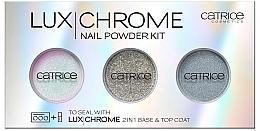 Düfte, Parfümerie und Kosmetik Nagelpigmente - Catrice LuxChrome Nail Powder Kit