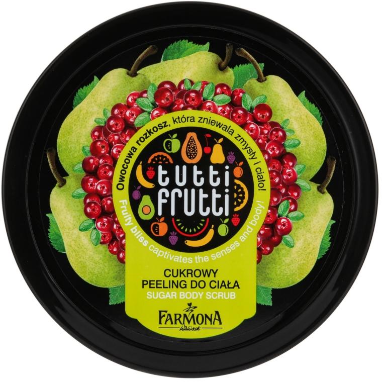 """Zuckerpeeling für den Körper """"Birne und Preiselbeere"""" - Farmona Tutti Frutti Sugar Scrub — Bild N1"""