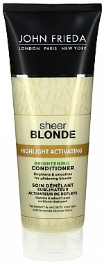 Aufhellender Conditioner für blondes Haar - John Frieda Sheer Blonde Highlight Activating Brightening Conditioner — Bild N1