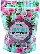Düfte, Parfümerie und Kosmetik Glättendes Körperpeeling mit Kokosnuss - Derma V10 Exfoliating Coconut Body Scrub