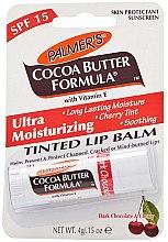 Düfte, Parfümerie und Kosmetik Lippenbalsam dunkle Schokolade und Kirsche LSF 15 - Palmer's Cocoa Butter Formula Dark Chocolate & Cherry Lip Butter
