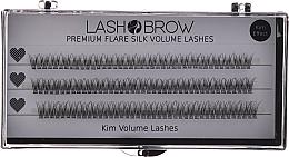 Düfte, Parfümerie und Kosmetik Wimperbuscheln-Set - Lash Brow Premium Flare Silk Kim Volume Lashes