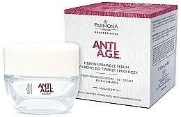 Düfte, Parfümerie und Kosmetik Nacht-Creme-Serum für Gesicht und Augenpartie - Farmona Anti-AGE Glycation Fibro-Rebuilding Serum In Cream For Face & Under Eye