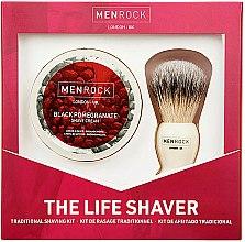 Düfte, Parfümerie und Kosmetik Rasierset - Men Rock The Life Shaver Black Pomegranate Kit (Rasierbürste 1St. + Rasiercreme 100ml)