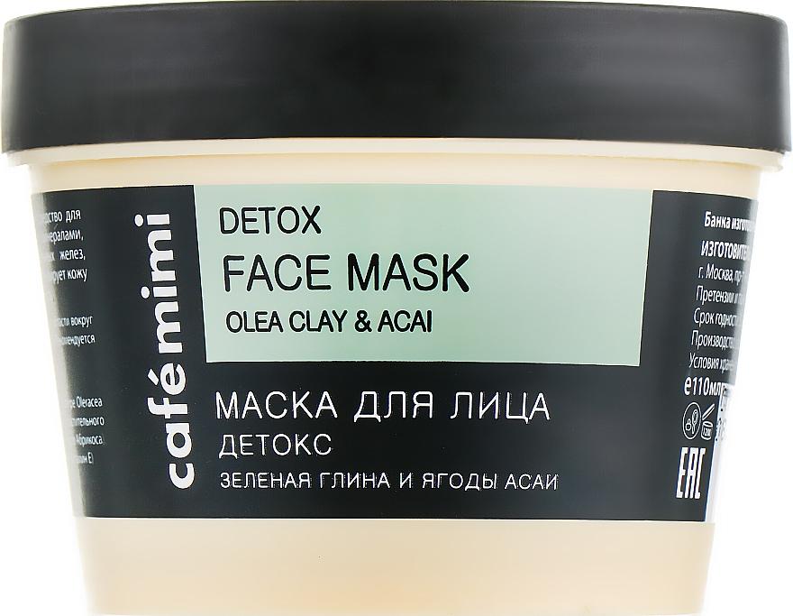 Detox-Gesichtsmaske mit grüner Tonerde und Acaibeeren - Cafe Mimi Face Mask — Bild N1