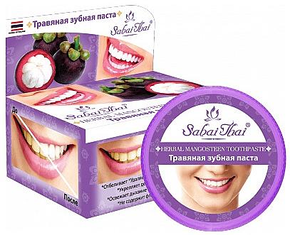 Fluoridfreie natürliche und aufhellende Zahnpasta mit Mangostan-Extrakt - Sabai Thai Herbal Mangosteen Toothpaste — Bild N1