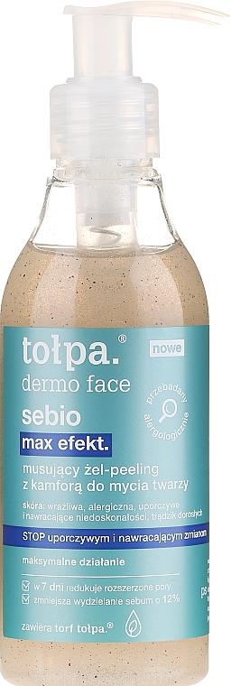 Reinigungsgel-Peeling für Gesicht mit Kampfer - Tolpa Dermo Face Sebio Max Efect Gel-peeling — Bild N1