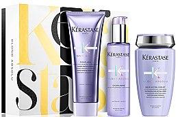 Düfte, Parfümerie und Kosmetik Haarpflegeset - Kerastase Blond Absolu Pack Holiday (Shampoo 250ml + Haarspülung 250ml + Haarserum 150ml)