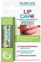 Düfte, Parfümerie und Kosmetik Schützender Lippenbalsam mit Vitaminen A und E - Floslek Lip Care Protective Lipstick With Vitamins A and E