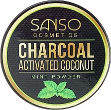 Düfte, Parfümerie und Kosmetik Natürliches aufhellendes Zahnpulver mit Aktivkohle und Minze - Sanso Cosmetics Charcoal Activated Coconut Mint Powder