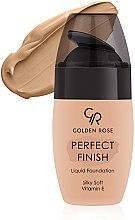 Düfte, Parfümerie und Kosmetik Seidige Foundation mit Vitamin E - Golden Rose Perfect Finish Liquid Foundation