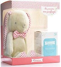 Düfte, Parfümerie und Kosmetik Klorane Bebe Fragrant Water For Baby - Duftset (Eau de Toilette 50 ml + Spielzeug Rabbit Teddy Pink)
