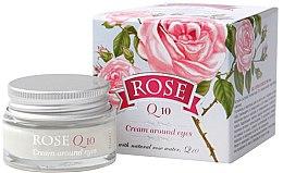 Düfte, Parfümerie und Kosmetik Augenkonturcreme mit natürlichem Rosenwasser und Coenzym Q10 - Bulgarian Rose Rose Q10 Cream Araund Eyes