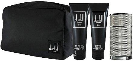 Alfred Dunhill Icon - Duftset (Eau de Toilette 100ml + Duschgel 90ml + After Shave Balsam 90ml +Kosmetiktache)  — Bild N2