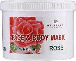 Düfte, Parfümerie und Kosmetik Pflegende feuchtigkeitsspendende und verjüngende Körper- und Gesichtsmaske mit Rosenöl - Hristina Cosmetics Rose Face & Body Mask