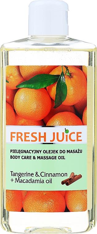 Pflege- und Massageöl für den Körper mit Mandarine, Zimt und Macadamiaöl - Fresh Juice Energy Tangerine&Cinnamon+Macadamia Oil