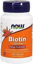 Düfte, Parfümerie und Kosmetik Nahrungsergänzungsmittel Biotin 1 mg für normale Immunfunktion - Now Foods Biotin
