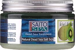 Düfte, Parfümerie und Kosmetik Salzpeeling für den Körper mit Meersalz, Kiwi- und Birnenduft - Saito Spa Aalt Body Scrub Kiwi Pear