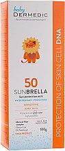 Wasserfeste Sonnenschutzmilch für Kinder und Babys SPF 50 - Dermedic Sun Protection Milk for Kids SPF 50 — Bild N2