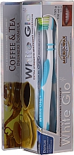 Düfte, Parfümerie und Kosmetik Zahnpflegeset für Kaffee- und Teetrinker - White Glo Coffee & Tea Drinkers Formula Whitening Toothpaste (Zahnpasta 100ml + Zahnbürste weiß-blau)