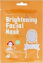 Düfte, Parfümerie und Kosmetik Aufhellende und verjüngende Tuchmaske mit Jojobaöl und Rosenextrakt - Cettua Brightening Facial Mask