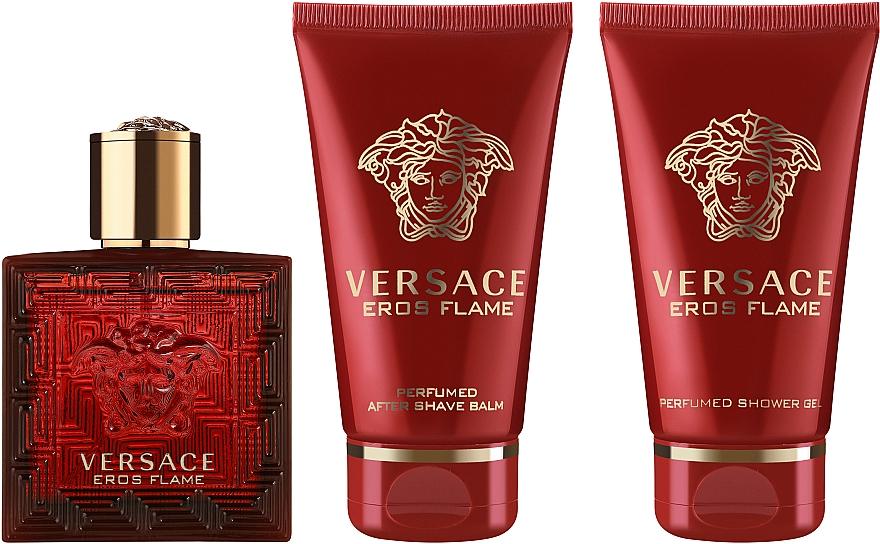 Versace Eros Flame - Duftset (Eau de Parfum 50ml + Duschgel 50ml + After Shave Balsam 50ml) — Bild N1