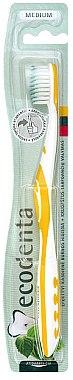 Zahnbürste mittel gelb-weiß - Ecodenta Medium-Bristled Toothbrush — Bild N1