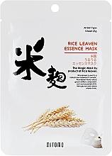 Düfte, Parfümerie und Kosmetik Tuchmaske für das Gesicht mit Reiskleie-Extrakt - Mitomo Rice Leaven Essence Mask
