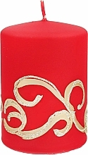 Düfte, Parfümerie und Kosmetik Dekorative Kerze rot 7x14 cm - Artman Christmas Ornament